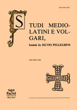 Studi Mediolatini e Volgari copertina generica