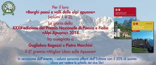 Borghi paesi e valli delle Alpi Apuane Premio e sconto settembre 2014