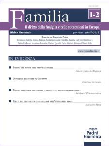 Familia - Il diritto della famiglia e delle successioni in Europa (Rivista bimestrale online)