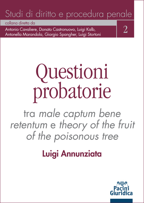 Questioni probatorie - Tra male captum bene retentum e theory of the fruit of the poisonous tree