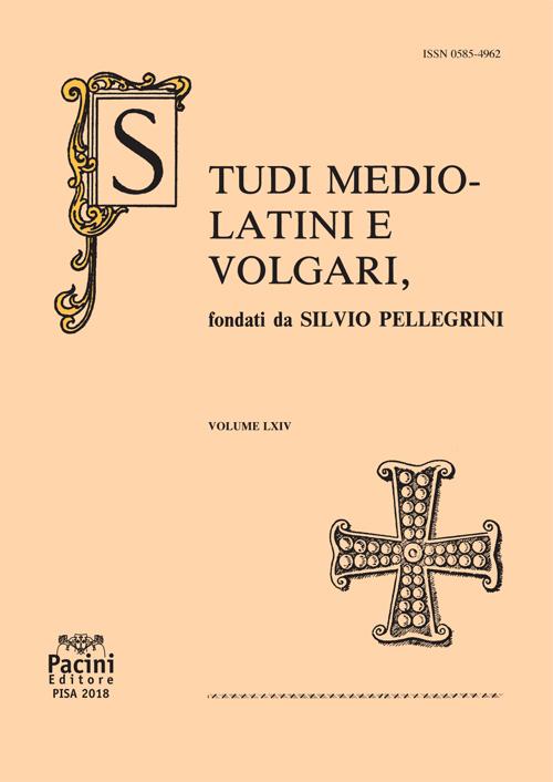 Studi mediolatini e volgari - vol. LXIV (2018)