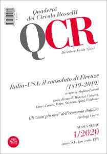 QCR Quaderni del Circolo Rosselli 1-2020 (anno XL, fascicolo 137) - Italia-USA: il consolato di Firenze (189-2019)