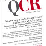 QCR Quaderni del Circolo Rosselli 1-2021 - anno XLI, fasc. 141) - Intellettuali e politica negli anni dell'avvento del fascismo